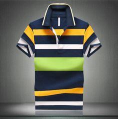 Striped Polo Shirt Hot Sale Fashion Men 2015 Summe Price: $0 Buy From AliExpress:http://5.gp/mQt3