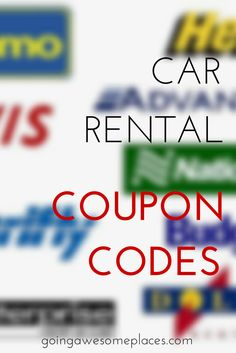 The best of the best car rental coupon codes that you NEED to be using today.