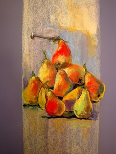 just pears pastel 60 x 50 cm Marie-France OOSTERHOF