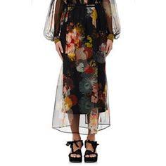 Schiller Floral Silk Midi-Skirt