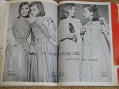 McCall's catalog, January 1961 featuring McCall's 5584 on the left page, 5614 and 5613 on the right page