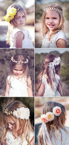 Pretty flower hair accessories for girls - Elisa your girls are going to be my flower girls!