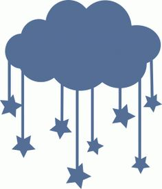 Silhouette Design Store - View Design #62195: cloud with stars