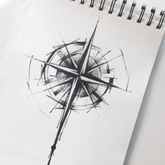 65 amazing compass tattoo designs and ideas Sketch Style Tattoos, Sketch Tattoo Design, Tattoo Sketches, Tattoo Drawings, Sketch Design, Tattoo Linework, New Tattoo Designs, Rose Tattoos, Body Art Tattoos