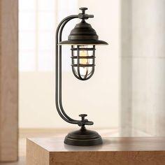 Ulysses Oil Rubbed Bronze Industrial Lantern Desk Lamp