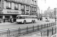 O-Bus der BVG (1955) Hermann-Ehlers-Platz/Schloss-Strasse,Berlin-Steglitz.