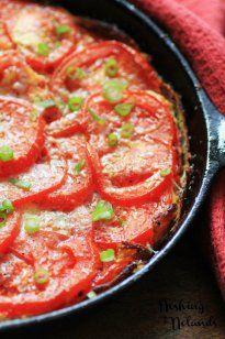 BBQ Tomato Frittata - Living Better Together