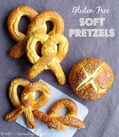 Gluten Free soft pretzels, pretzel bites, pretzel buns...dough is super easy to work with, make any shape!