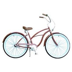 "Women's 26"" three-speed beach cruiser bicycle with front and back fenders and Nexus shifter.   Product: Beach cruiser Construction Material: Metal Color: Brick and blueFeatures:  Reliable and stylishThree speed Dimensions: Cruiser: 45"" H x 69"" W x 28"" D Wheel: 26"" Diameter eachNote: Assembly required"