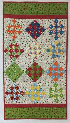16 Patch Quilted Table Runner by ButterflyThreadsQ on Etsy