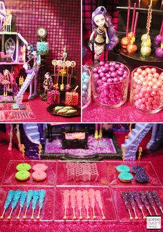 | Monster High Party – Freaky Fusion Candy Bar | http://soiree-eventdesign.com