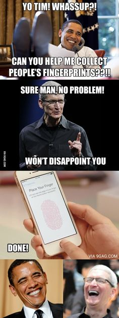 That's how it happened with Apple's Touch ID!