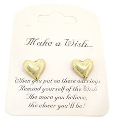Make A Wish Heart Earrings by SilverMoonBay on Etsy, $11.99