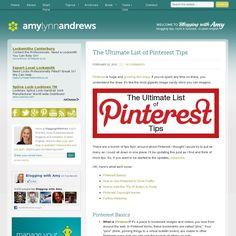 Pinterest tips from  bloggingwithamy.com  (screenshot via http://pinstamatic.com)