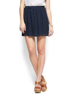 Mango Women's Polka Dot Skirt