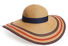 Orange and Navy Stripe Sun Hat
