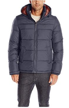 Tommy Hilfiger Men's Ultra Loft Insulated Midlength Quilted Puffer Jacket with Fixed Hood, Black, S: Updated two pocket fashion ultra loft polyfill insulated quilted mid-weight puffer jacket with attached hood Best Parka, Puffer Jackets, Winter Jackets, New Blue, Winter Outfits Men, Tommy Hilfiger, Men Casual, Mens Fashion, Sweater