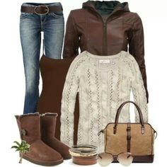 This would be so comfy at home and around town for the fall and winter.