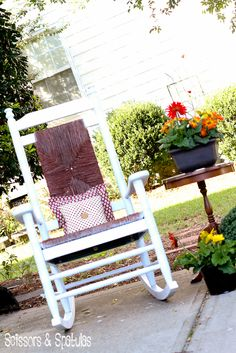 The Rescued Rocker: $10 garage sale rocking chair makeover