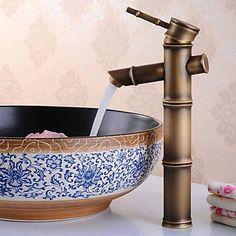 Antik Centersat bred spary with Keramik Ventil Enkelt håndtag Et Hul for Antik Bronze Vandhane Badeværelse