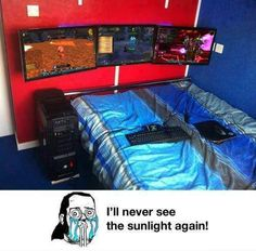 Your Gaming Setup is Finally Complete - Video Game Memes Games Memes, Video Game Memes, Video Games, Pc Gamer, Funny Shit, Funny Stuff, Funny Things, Nerdy Things, Hilarious