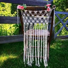 Macrame Chair Cover See this Instagram photo by @westward_notions • 64 likes