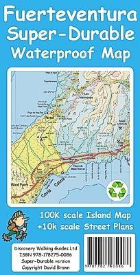 Tour & Trails superrobuste topografiske kart over Fuerteventura har masse detaljer og alle de store, sekundære og mindre asfaltert veiene pluss grusveier og turstier vises godt. Dette inkluderer også den offisielle ruten GR131. Formatet er 840 x 700 mm som enkelt brettes ned til et lommeformat på 235 x 120 mm etter trekkspillprinsippet. Høyde over havet vises tydelig med fargede høydekurver når du reiser rundt på øya med bil, buss, sykkel eller til fots. Island Map, How To Plan, Lanzarote, Voyage
