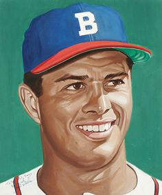 Eddie Mathews portrait by Andy Jurinko