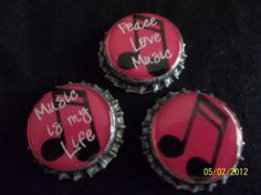 Music Bottle Caps by ang744 on Etsy, $3.00