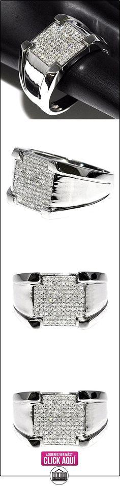rings-midwestjewellery. com Hombre Anillo con diamantes Anillo de Bodas de Oro blanco de 10K Comfort Fit 12mm de ancho Pinky Fashion  ✿ Joyas para hombres especiales - lujo ✿ ▬► Ver oferta: https://comprar.io/goto/B00M9QWOC0