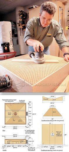 DIY Downdraft Sanding Table - Sanding Tips, Jigs and Techniques | WoodArchivist.com #WoodworkingPlans