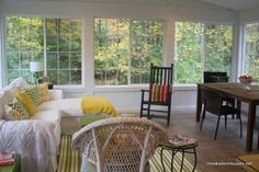 sunroom view in the fall