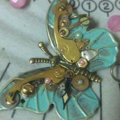 Work in progress... #nofilter #handmade #clockparts #antique #butterfly #ooak #oneofakind #emeraldinceptiins - @emeraldinceptions- #webstagram
