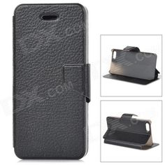 Color: Black; Quantity: 1 Piece; Material: PU leather + plastic; Shade Of Color: Black; Compatible Models: IPHONE 5S,IPHONE 5; Style: Flip Open; Design: Others,; Auto Wake-up / Sleep: No; Other Features: Protects your device from scratches, dust and shock; Packing List: 1 x Protective case; http://j.mp/1lkymvC