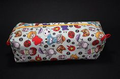 Boxy Makeup Bag- Studio Ghibil Doodle Print- Pencil Pouch - Totoro, No-Face, Kiki and Jiji, Catbus, Chihiro, Sophie Pendragon, Susuwatari and Calcifer for $12 +s&h