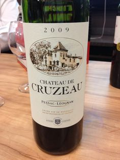 *2009 Chateau de Cruzeau - Pessac-Leognan 55% Cab Sauv, 43% Merlot, 2% Cab Franc - Dark burgundy red with black cherry, integrated oak, vanilla, and earth on the nose. Medium bodied with a great finish of cherry, touches of earth, some cedar with vanilla. 92 points. Buy at $30