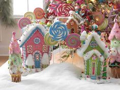 new RAZ Gumdrop and Jellybeans collection. BEST online selection at trendy tree. Candy Land Christmas, Whoville Christmas, Pink Christmas Tree, Christmas Gingerbread House, Whimsical Christmas, Christmas Home, Christmas Holidays, Holiday Fun, Christmas Crafts