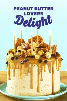 Baking Recipes, Dessert Recipes, Cheesecake Recipes, Peanut Butter Birthday Cake, Delicious Desserts, Yummy Food, Peanut Butter Recipes, Novelty Cakes, Drip Cakes