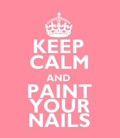 Keep Calm and Paint your Nails #studiobooth