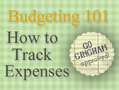 How to track expenses: #Frugal living begins with knowing how much you spend.