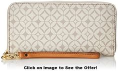Fossil Sydney Signature Zip Clutch, Bone, One Size