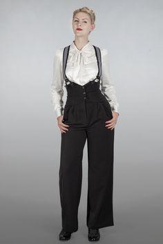 1930's Miss fancy pants Black | Broeken en rokjes | Misspoppywear, retro boetiek