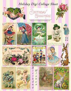 **FREE ViNTaGE DiGiTaL STaMPS**: Free Vintage Printable - Holiday Collage