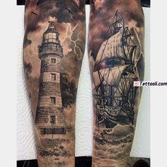 Nautical tattoo sleeve, anchor sleeve tattoo, pirate tattoo sleeve, s Neue Tattoos, 3d Tattoos, Body Art Tattoos, Ocean Tattoos, Ship Tattoo Sleeves, Leg Sleeve Tattoo, Pirate Tattoo Sleeve, Future Tattoos, Tattoos For Guys