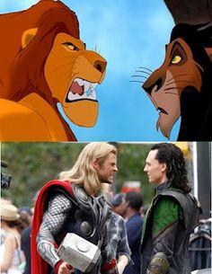 Lion King  = avengers
