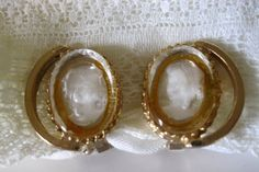 Vintage Glass Intaglio Cameo Earrings by Sisters2Vintage on Etsy