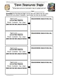 Printables Text Features Worksheets 4th Grade names the ojays and texts on pinterest