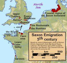 Uk History, European History, British History, Family History, Anglo Saxon History, Ancient History, Map Of Britain, Roman Britain, Anglo Saxon Kingdoms