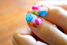 nail art design for short nails, colorful, flower #shortnail #nailart