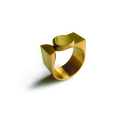 Craft Northern Ireland's #Objectoftheday, 26 April. Square and round ring by AN ALLEWEIRELDT. Represented at #COLLECT14 by Design Vlaanderen / Design Flanders, Belgium.